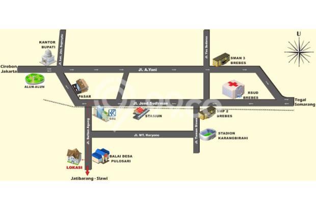 Type 45/96 Pusat Kota Brebes Dekat RSUD Bebas Banjir  BARU!! Telah dibuka k 15125390