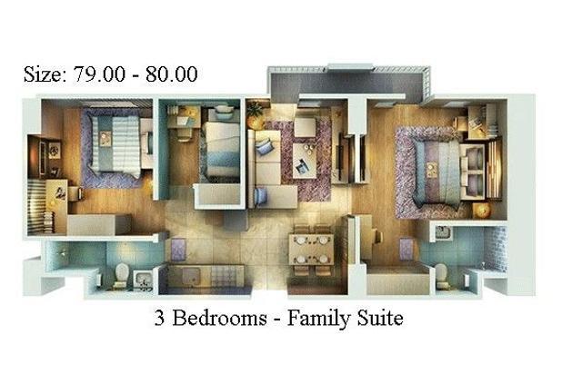 Rp696jt Apartemen Dijual
