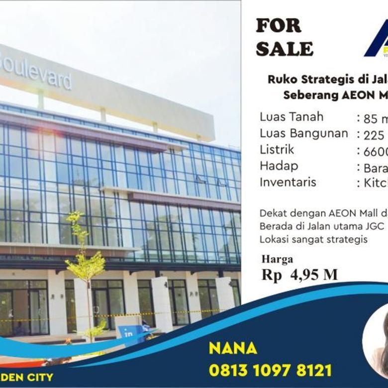 Ruko Strategis Jalan Utama Aeon Mall JGC, Jakarta Garden City