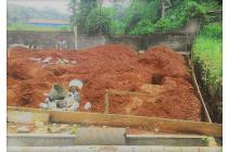 Tanah Kaveling Pasir Putih Depok, Lahan Rata, Terpondasi Keliling