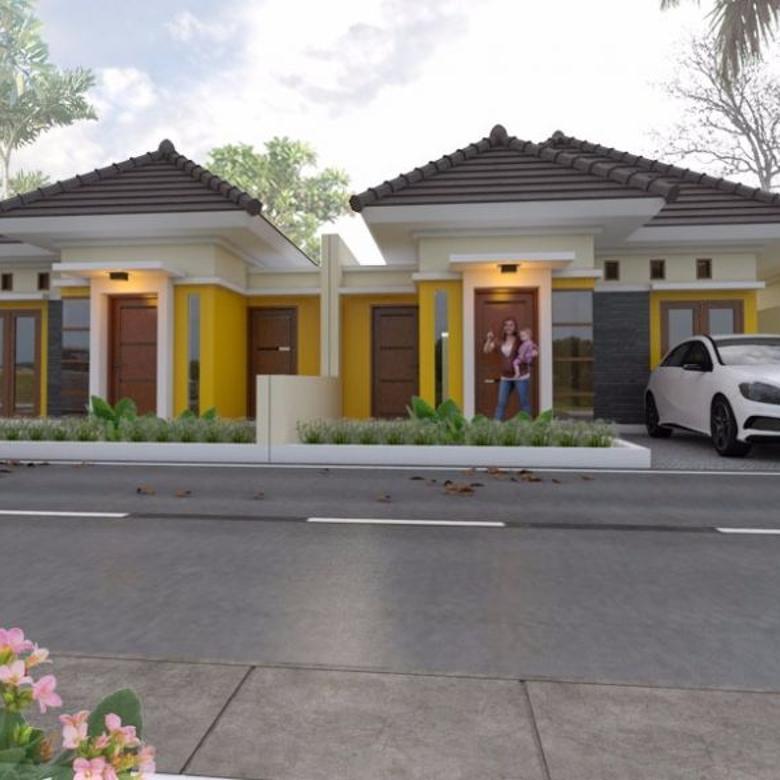 rumah cluster  tepi aspal di bangunjiwo, shm, design limasan