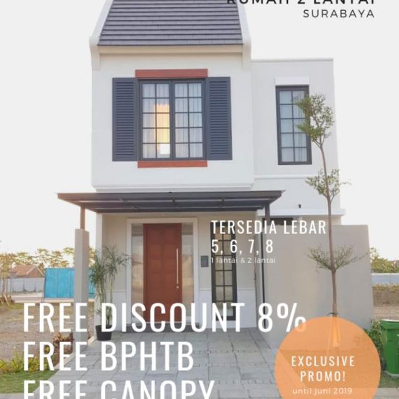 Dijual Rumah 2 Lantai Daphne Standard Grand Harvest Surabaya