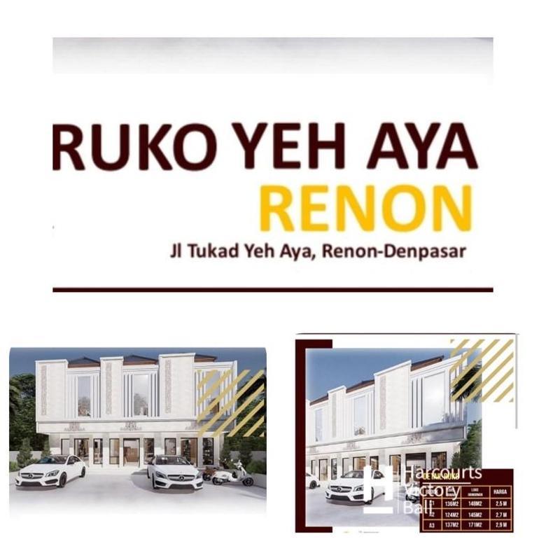 Ruko Baru 2lantai area Renon, Denpasar