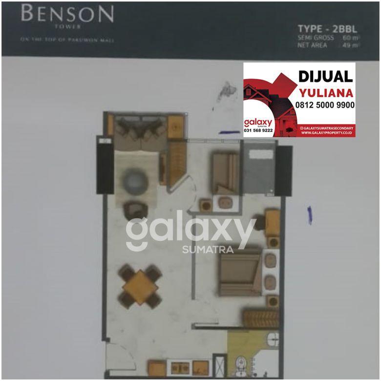 Dijual Apartemen Benson Lantai 5, Kosongan - Yuliana