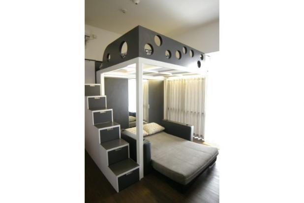 Apartemen dijual ambassade tipe studio desain unik for Desain apartemen studio 21m
