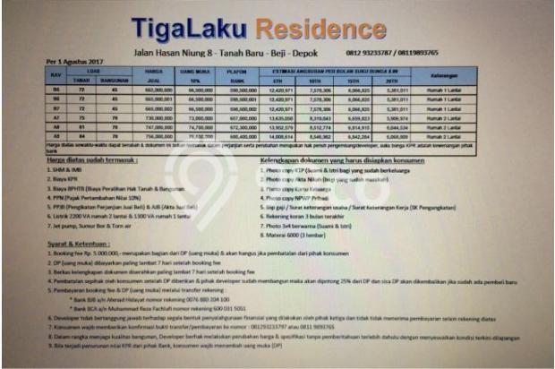 Jual Rumah di  Tanah Baru Beji Depok- Premium Minimalis 12929760
