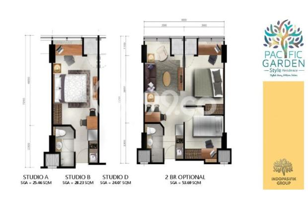 Dijual Apartemen Studio Strategis di Pacific Garden Alam Sutera Tangerang 13167722