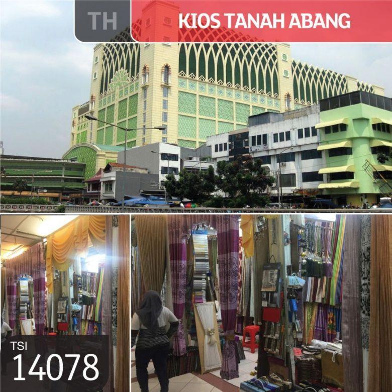 Kios Tanah Abang, Blok A, Jakarta Pusat, 2x2,46m, HGB