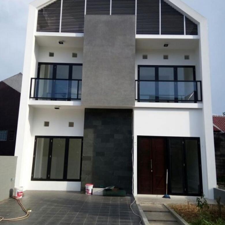 Rumah Mewah 2 Lantai Desain Modern Limo Depok Luas Tanah 98 m² - Luas Bangu