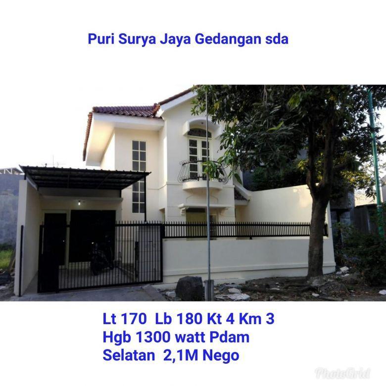 Rumah murah puri surya jaya gedangan sidoarjo surabaya siap huni nego