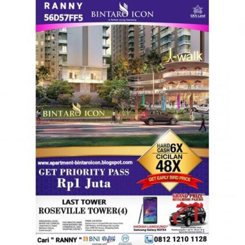 Bintaro Icon, Apartemen, Condotel, Mansion House di Bintaro MP108