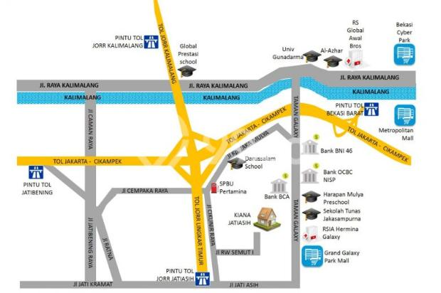 Rumah 2 lantai paling murah di cikunir,gratis kitchen set 12398543