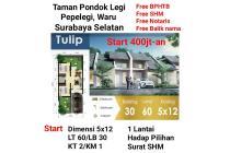 Rumah Minimalis Taman Pondok Legi Sidoarjo Bisa KPR Free Biaya