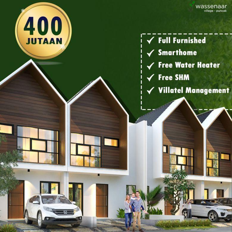 villa murah di puncak hanya 400 jutaan Free SHM & Water Heater