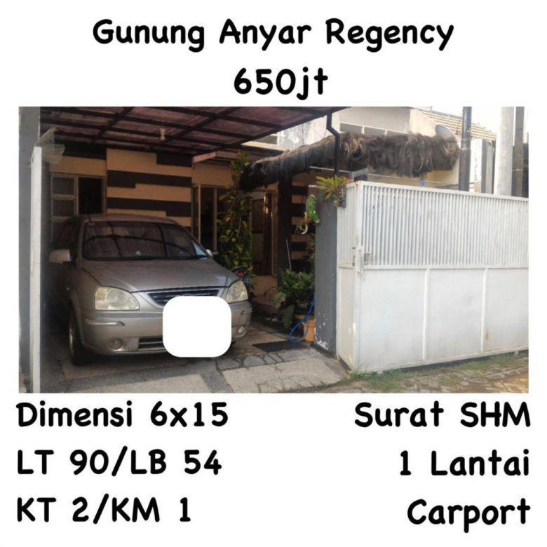 Rumah Gunung Anyar Regency Surabaya dekat Rungkut Merr Nego