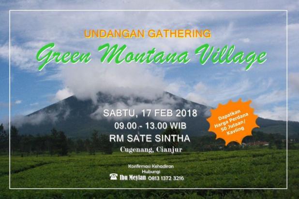 Green Montana Village, dapatkan harga perdana 50jutaan/Kavling di Cipanas. 15829323