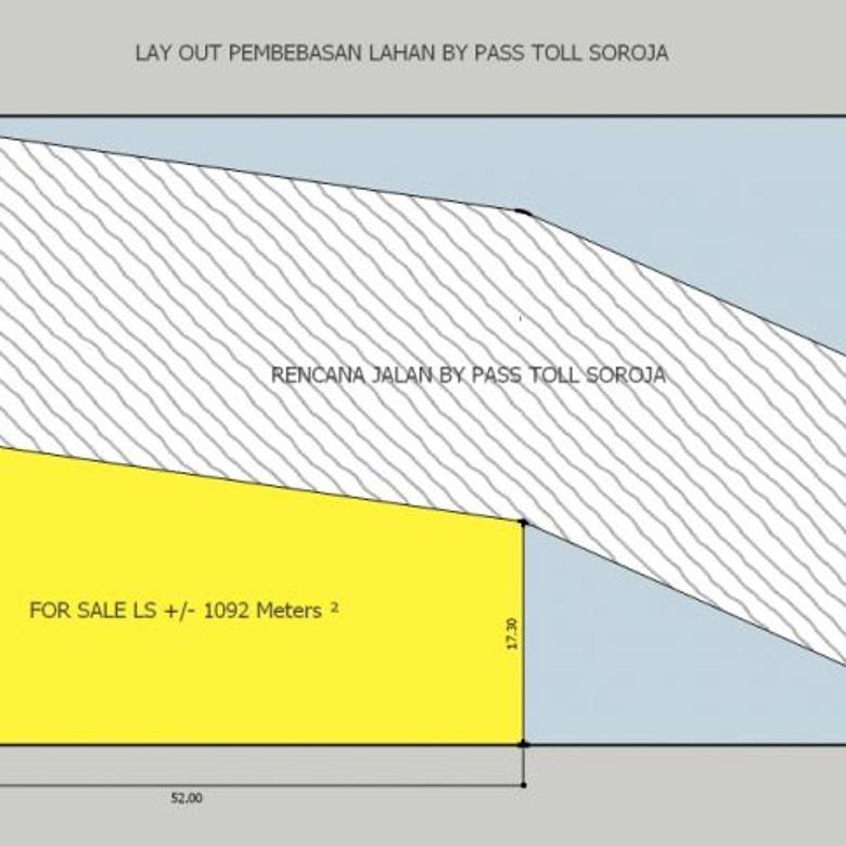 Jual Tanah Pinggir Jalan By Pass Toll Soroja