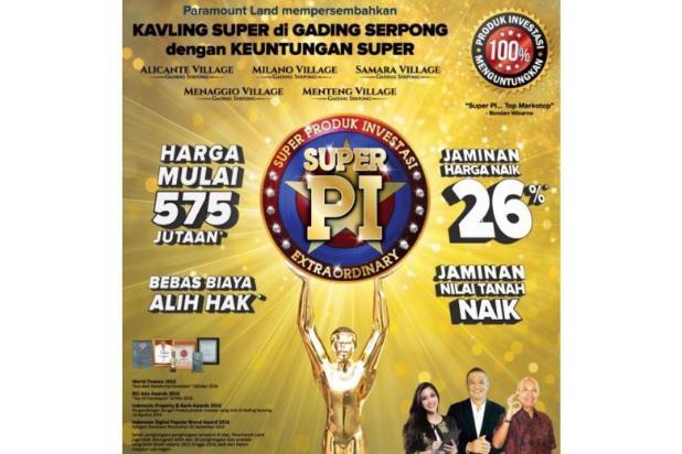 KAVLING SUPER PI PRODUK INVESTASI by paramaound land 8657627