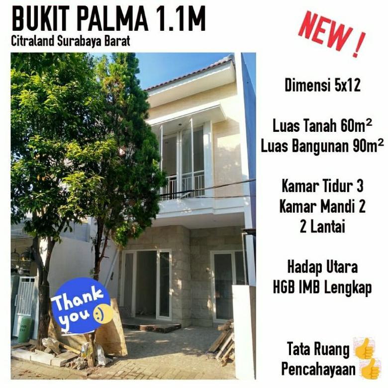 rumah bukit palma Citraland siap huni murah 2 lantai