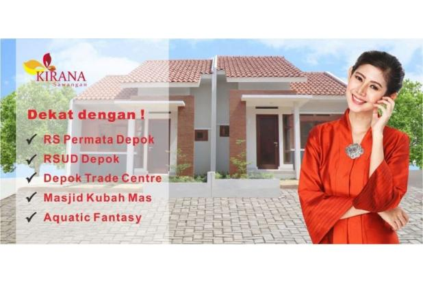 Cluster Kirana Town House, DP 0 % KPR Bunga 6 % di Bedahan Depok 16521980