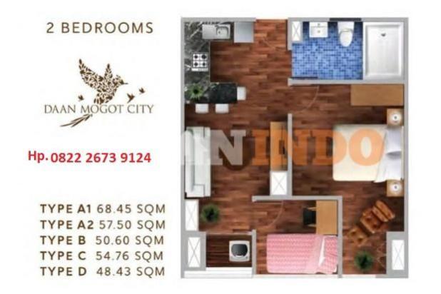 Rp888jt Apartemen Dijual
