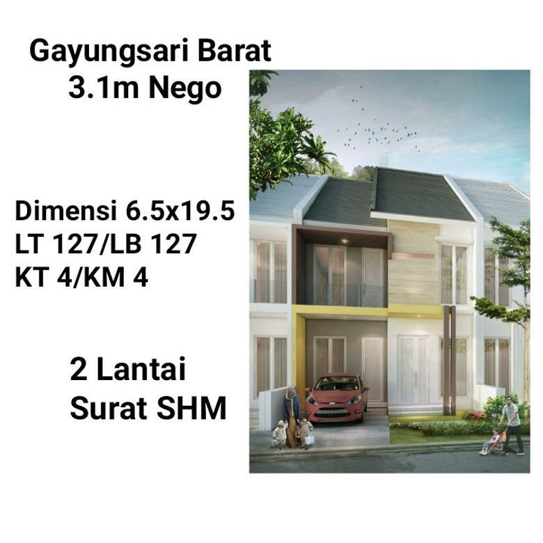 Gayungsari Barat 3.1M Nego Surabaya Selatan