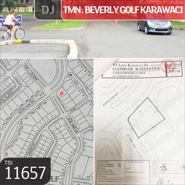 Kavling Taman Beverly Golf Karawaci, Tangerang, 576 m², PPJB