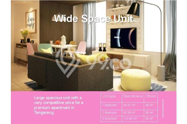Dijual Apartemen Baru 3BR Murah Strategis di Skandinavia TangCity Tangerang 13132357