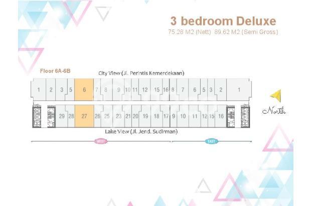 Dijual Apartemen Baru 3BR Murah Strategis di Skandinavia TangCity Tangerang 13132415