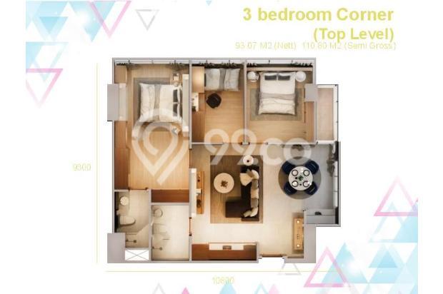 Dijual Apartemen Baru 3BR Murah Strategis di Skandinavia TangCity Tangerang 13132421