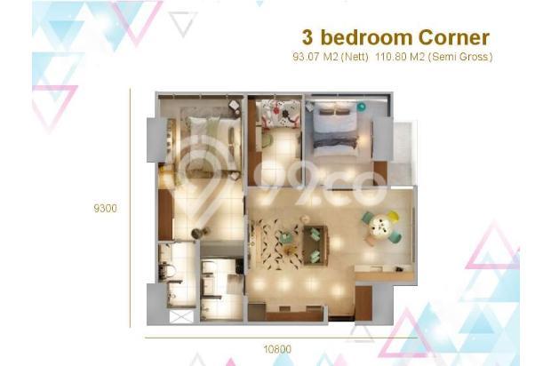 Dijual Apartemen Baru 3BR Murah Strategis di Skandinavia TangCity Tangerang 13132418