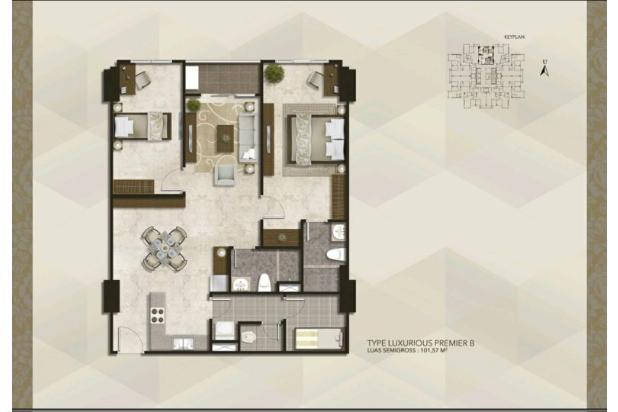 Rp3,62mily Apartemen Dijual