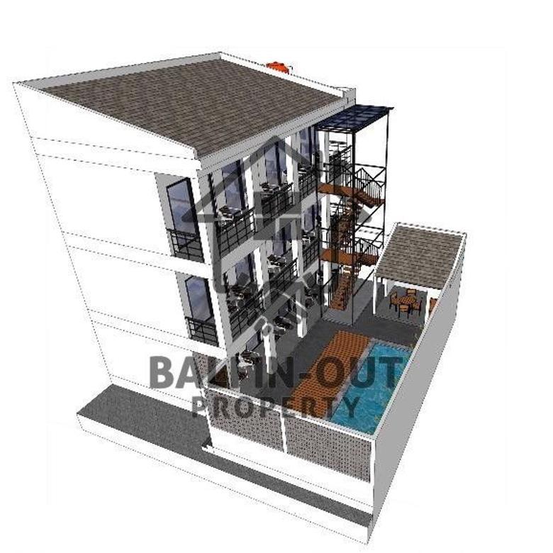 Dijual guest house dalam progres pembangunan di canggu brawa
