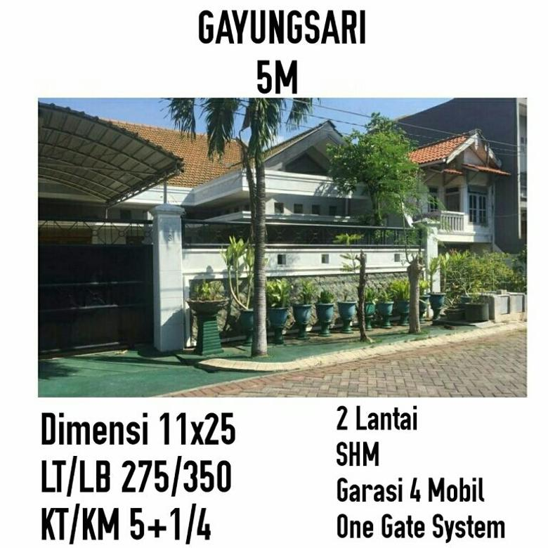 Gayungsari 5M Surabaya Timur Garasi Besar
