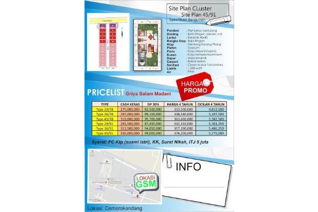 Dijual Rumah Aman dan Nyaman di Griya Salam Madani, Malang 16226522