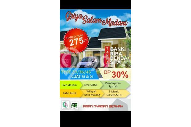 Dijual Rumah Aman dan Nyaman di Griya Salam Madani, Malang 16226521