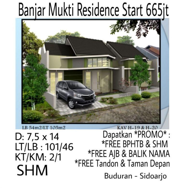 Rumah Banjar Mukti Residence Sidoarjo dekat Surabaya Bisa KPR