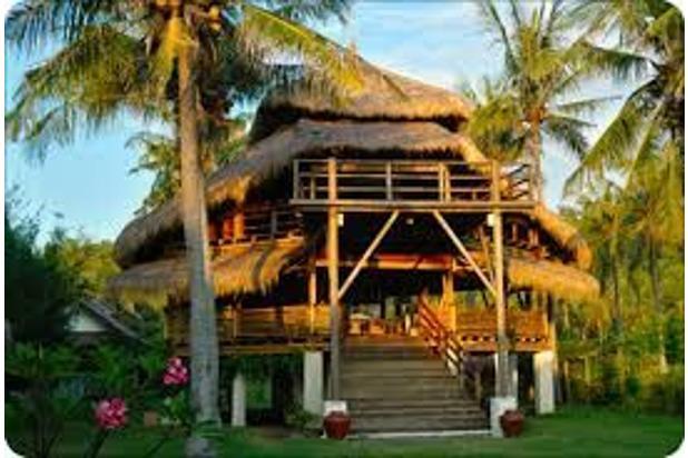 beachfront villa di gili trawangan