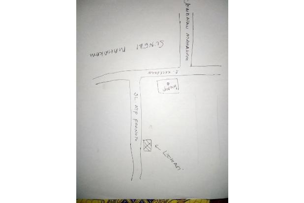 tanah pinggir jalan dua jalur