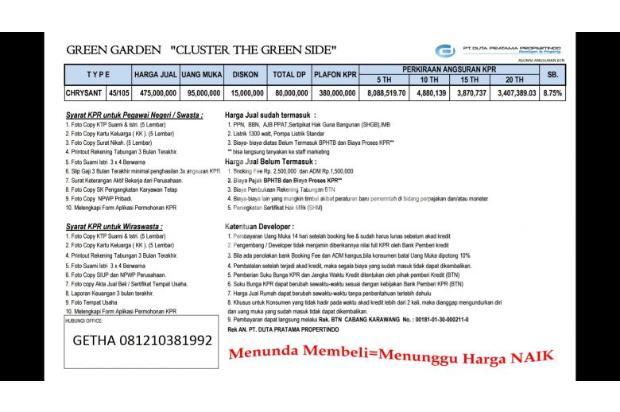 Perumahan system cluster 5 menit ke mall ramayana karawang 16508686