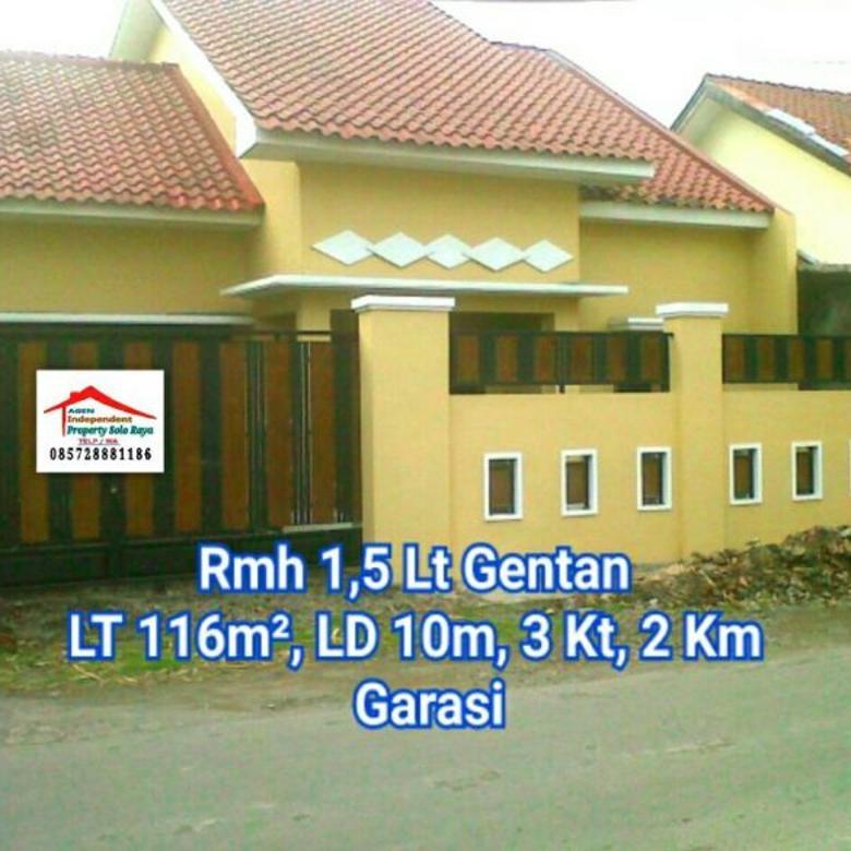 Rumah LT 116m² di Gentan Sukoharjo