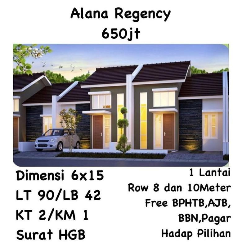 rumah baru gress alana regency selatan surabaya siap huni