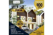 Villa Wassenaar Puncak desain 2 lantai bebas biaya-biaya