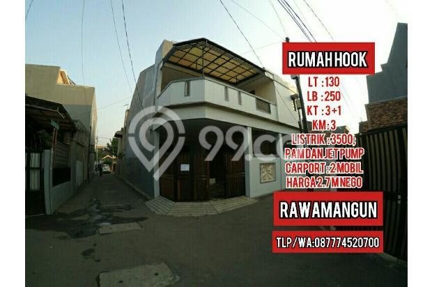 Rumah posisi hook lokasi sangat strategis di Rawamangun jakarta timur 18274913