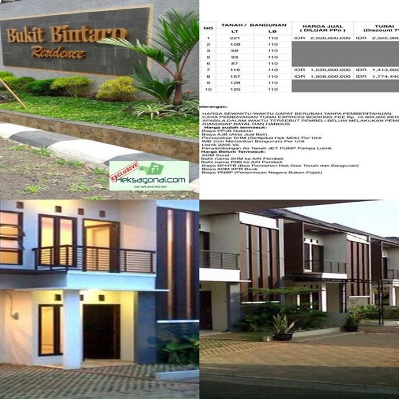 Dijual Rumah Bukit Bintaro Residence Jakarta Selatan hks4524