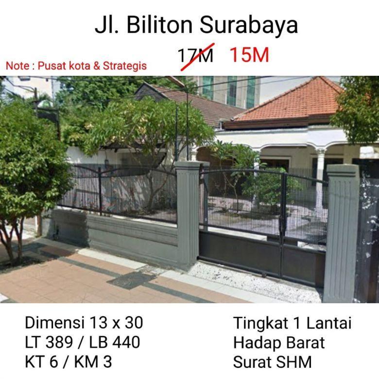 Rumah Jalan Biliton Surabaya Tengah Kota Nego