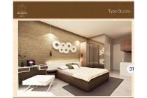 for sale to apartemen h residence at soetta type studio