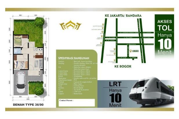 Dijual Rumah Baru Siap Huni di Cimanggis Premier Depok 14372327