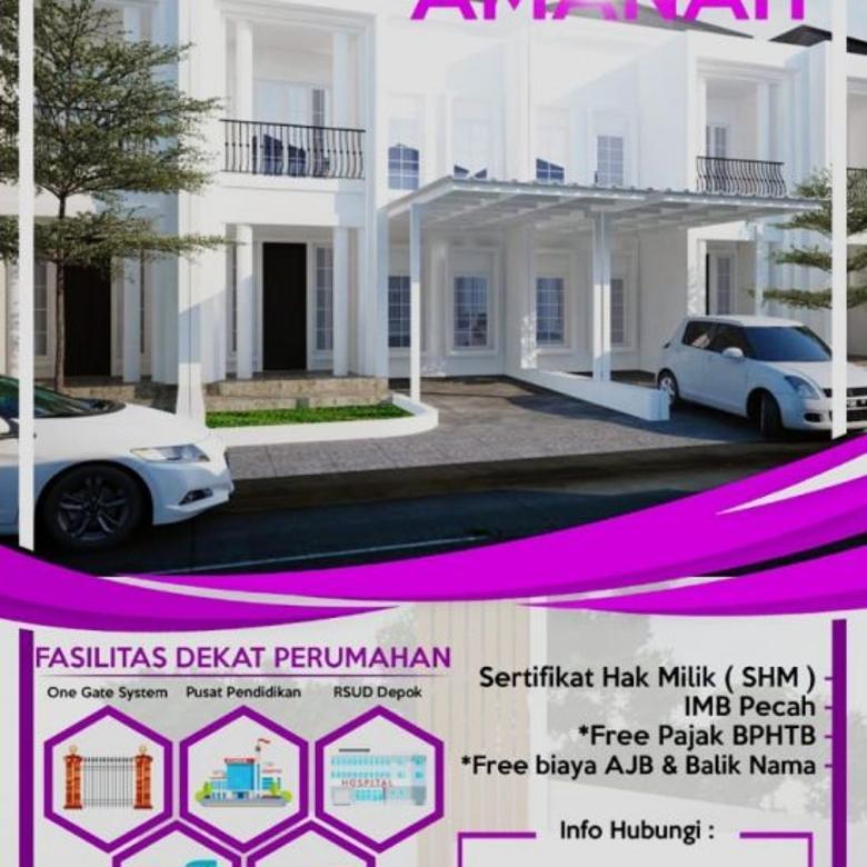 Dijual Rumah Cluster Murah di Griya Amanah, Sawangan, Depok