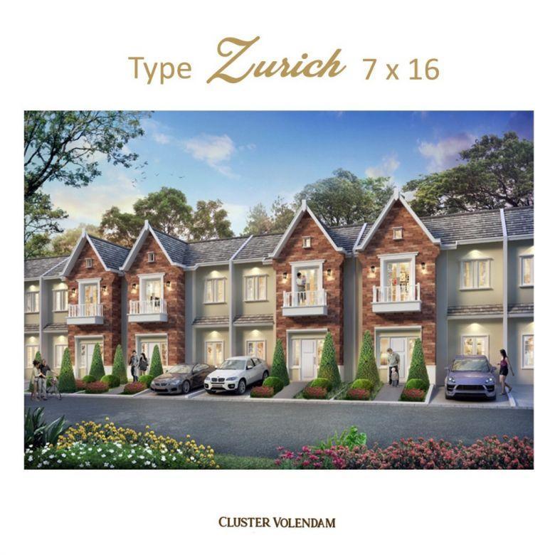 Perumahan Type Zurich 7 x 16 Cluster Volendam Gold Edition